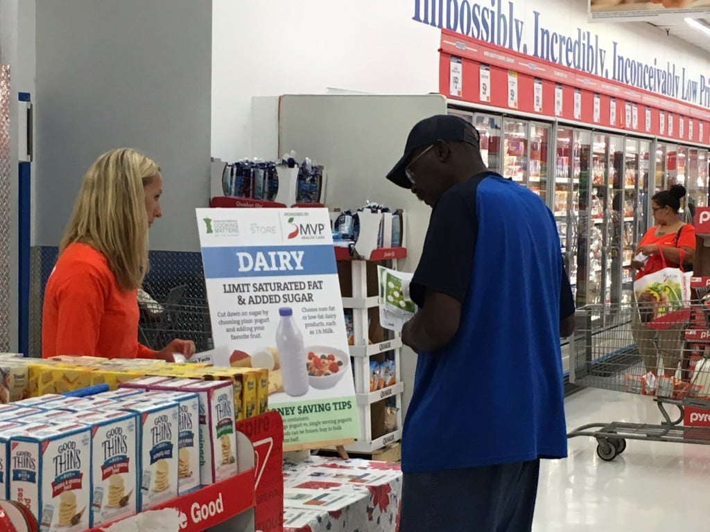 The Dairy station at Foodlink
